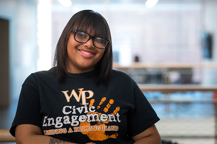 Tyesha Crawford '19 wins national Campus Compact award for civic engagement