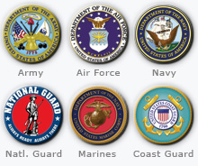 image of military branches symbols